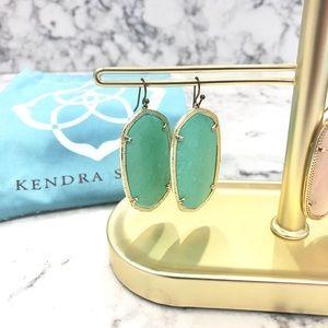 Kendra Scott Danielle earrings mint/gold